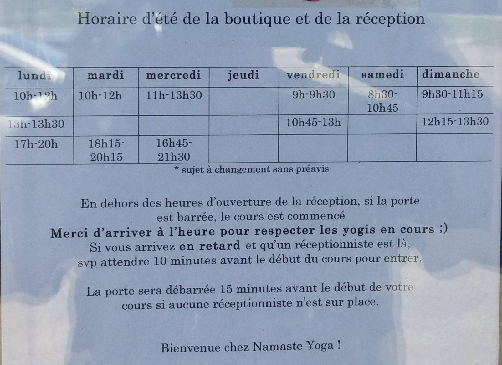 Exposition Lévis été 2016 - horaire